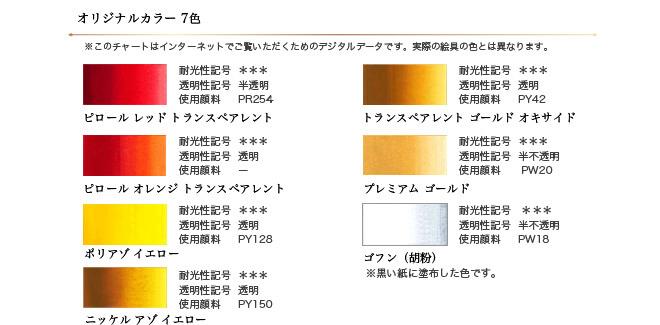 ホルベイン アニバーサリー透明水彩115色セット オリジナルカラー見本