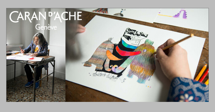 "「Caran d'Ache x SWITCH ""LIVING with COLORS"" 安齋肇 作品展覧会」"